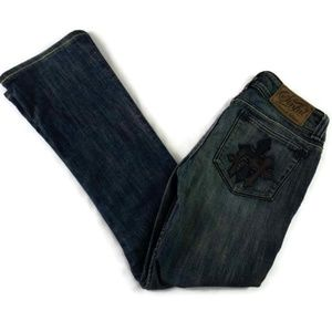 Sinful Jeans With Cross on Pockets and Leg